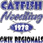 Catfish Noodling Okie Regionals - distressed