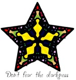 Yellow Stained Glass Star