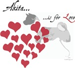 Akita Is For Love Valentine