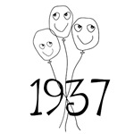 1937 birthday balloons 70th birthday t-shirt gifts