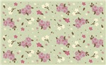 Shabby Chic Pink Flowers on Green