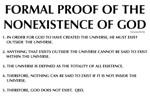 Nonexistence of God