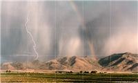 Lightning & Rainbow Tile Mural