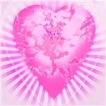 Pink and Purple 3D Heart
