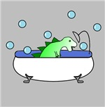 Dino In Tub (Grey)