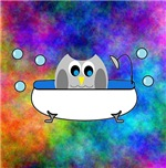 Owl in Tub (Multi-Color)