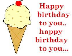 HAPPY BIRTHDAY (ICE CREAM)