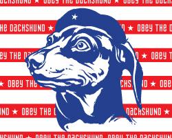 Dachshund Patriotism Icon