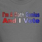 Math Genius And I Vote