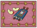 Jewish New Year Torah and Apples Card