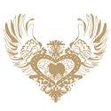 American Eskimo Tan Winged Heart