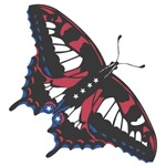 1708 Flag Butterfly
