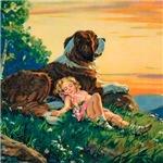 Saint Bernard Watercolor