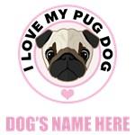 Personalized Pug Dog