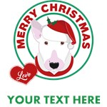 Personalized Bull Terrier Christmas T-Shirts