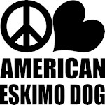Peace Love American Eskimo Dog