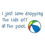 Dropping the kids off at the pool