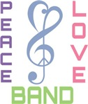 Peace Love Band Music T-shirts