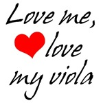 Funny Love My Viola T-shirts and Gifts
