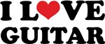 I Love Guitar T-shirts and Gifts