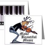 Fun Music Gifts - MUSIC NOTECARDS