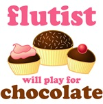 Funny Chocolate  Flute T-shirts
