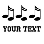 MUSIC NOTES PERSONALIZED T-SHIRTS AND GIFTS