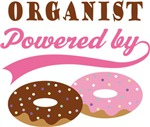 ORGANIST POWERED BY DONUTS T-shirts