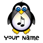 PERSONALIZED MUSIC PENGUIN TSHIRTS AND GIFTS