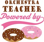 ORCHESTRA TEACHER POWERED BY DONUTS T-shirts