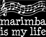 Marimba is My Life Music Staff Gifts and Shirts
