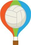 Volleyball Hot Air Balloon Kids Tee Shirts
