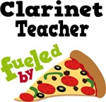 Clarinet Teacher Fueled By Pizza T shirts