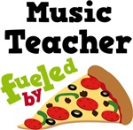 Music Teacher Fueled By Pizza T shirts