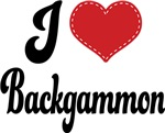 I Heart Backgammon T-shirts and Gifts