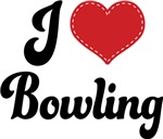 I Heart Bowling T-shirts and Gifts