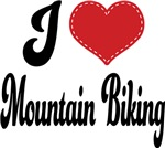 I Heart Mountain Biking T-shirts and Gifts