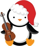 Violin Christmas Penguin Gifts and Shirt