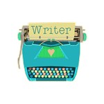 Writer Typewriter Retro Aqua Blue
