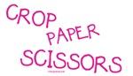 Crop Paper Scissors - Pink