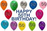 Happy 50th Birthday Theme Range!