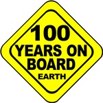 100 years on board Earth! 100th Birthday Gifts!
