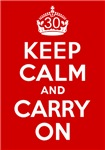 30th Birthday Gifts, Keep Calm & Carry On!