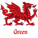 Green Welsh Dragon