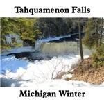 Upper Tahquamenon Falls In Winter and Summer
