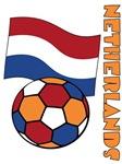 Netherlands Soccer Ball and Flag