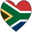 South African Heart Valentine