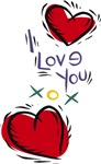 I Love You Hearts T-shirts & Gifts