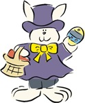 Formal Easter Bunny with Basket T-shirts & Gifts
