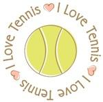 I Love Heart Tennis T-shirts Gifts